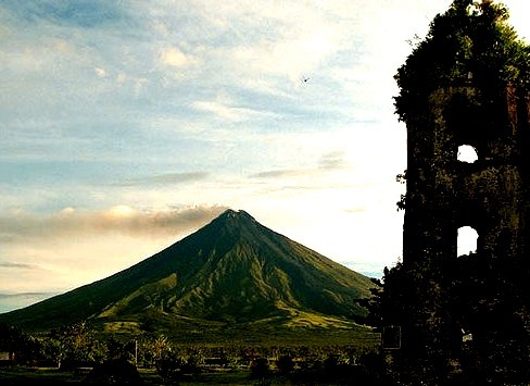 by Storm Crypt on Flickr.Cagsawa Ruins, an 18th century Franciscan church and Mayon Volcano - Albay, Philippines.