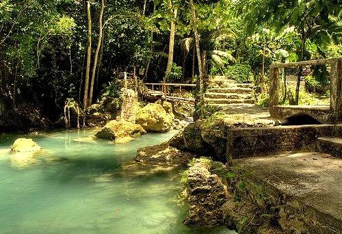 Path to Kawasan Falls, Cebu, Philippines