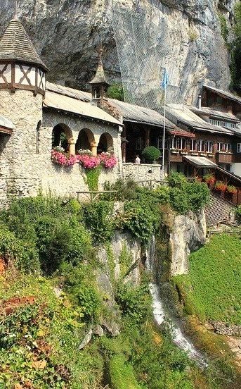 Entrance of St Beatus Caves, Interlaken, Switzerland