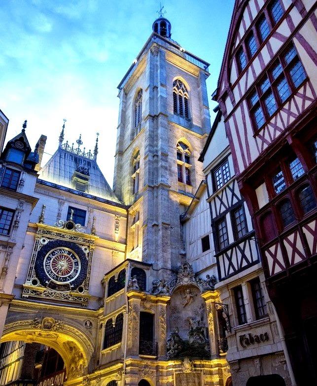 Dusk, Rouen, France