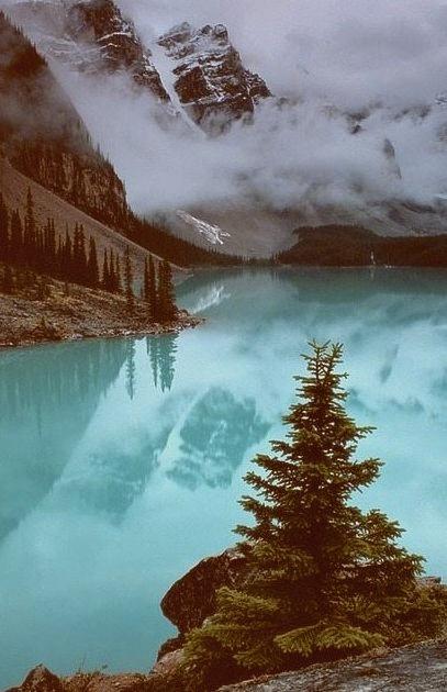 Winter Storm, Moraine Lake, Alberta, Canada