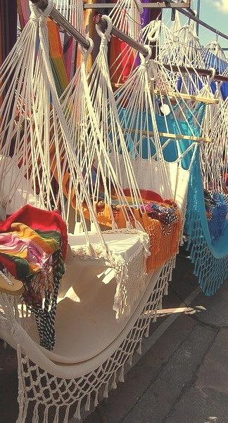 Hammocks shop in Otavalo, Ecuador