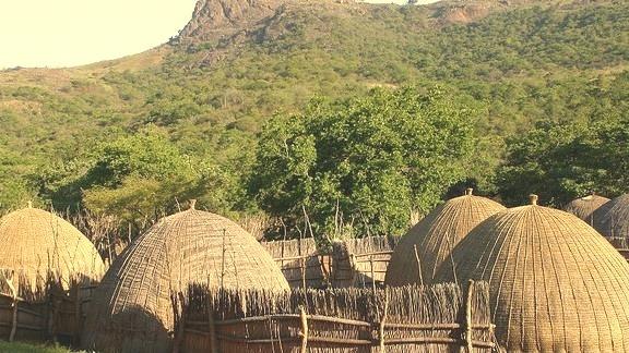 Traditional beehive huts in Ezulwini, Swaziland