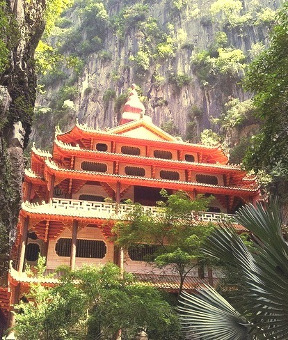 A temple within the mountain, Sam Poh Tong Buddhist Temple, Malaysia