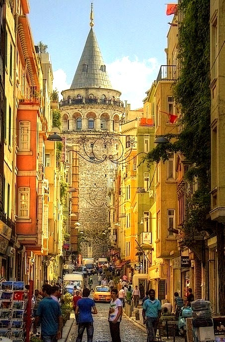 Towards the Galata Tower, Istanbul, Turkey